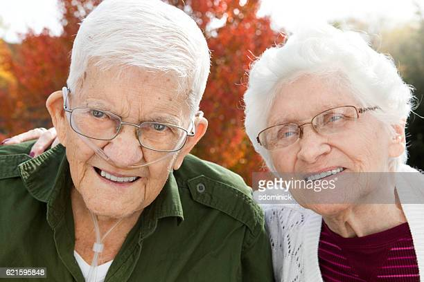 Cute Senior Couple Outdoors In Autumn
