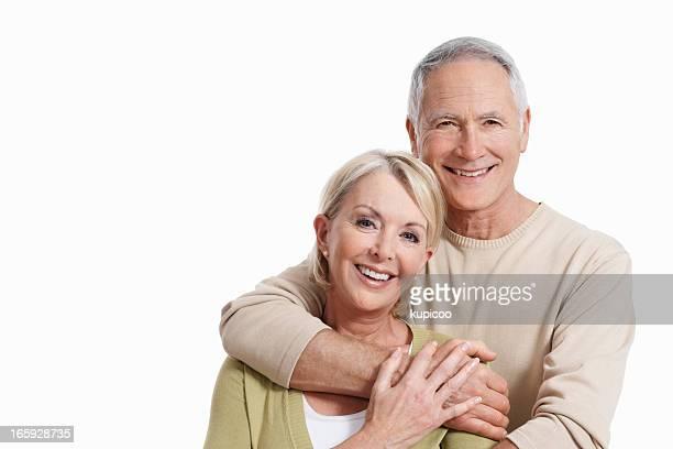 Süße altes Paar Lächeln zusammen