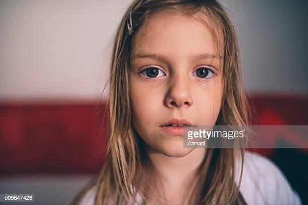 Cute, serious little girl