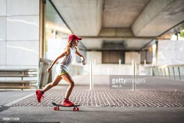 Cute skateboard girl