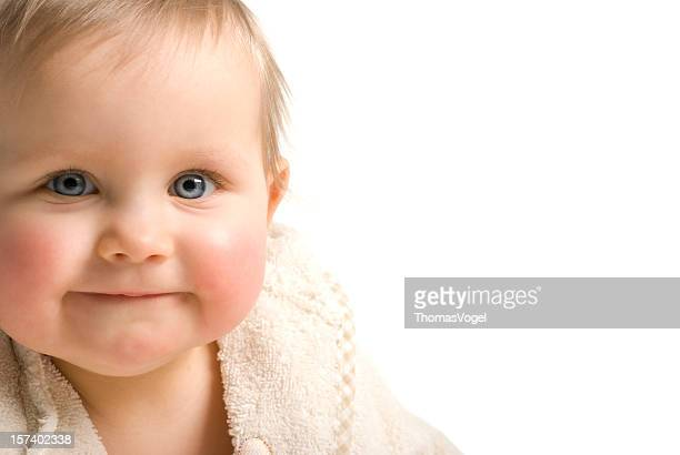 Cute smile. Baby Face Smiling Isolated Happiness Child Portrait