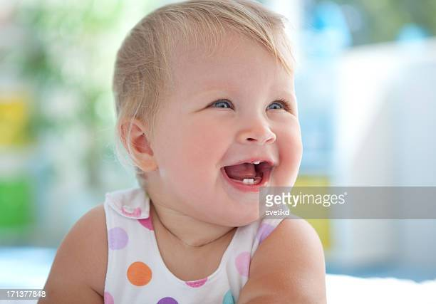 Cute smiling baby.