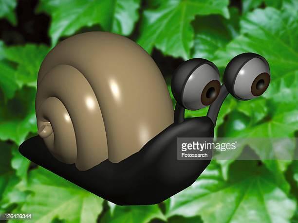 cute, snail, animal, 3D, plant