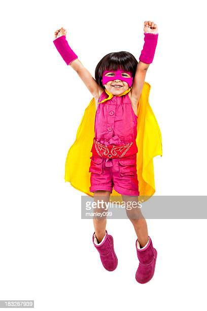 Süße superhero Mädchen-up