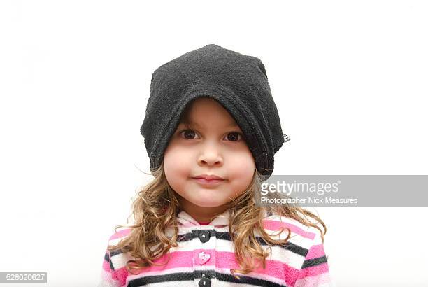Cute Toddler In Winter Hat