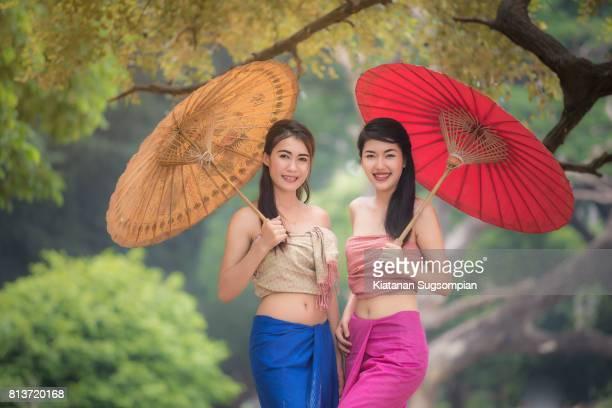 Cute umbrella girls