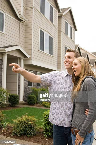 cute young couple house shopping