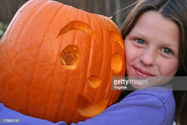 Cutie with her Pumpkin