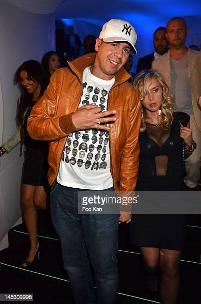 CutKiller and Enora Malagre attend the MTV Shake Ton Booty With Akon hosted by Jean Roch At VIP Room JW Marriott 65th Annual Cannes Film Festival on...