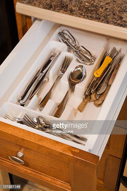 Couverts dans le tiroir