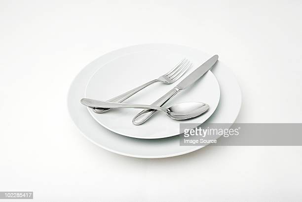 Cutlery on plates