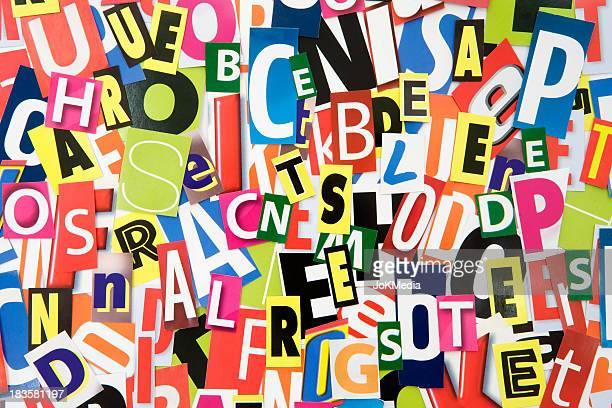 Ausgeschnittenen Buchstaben