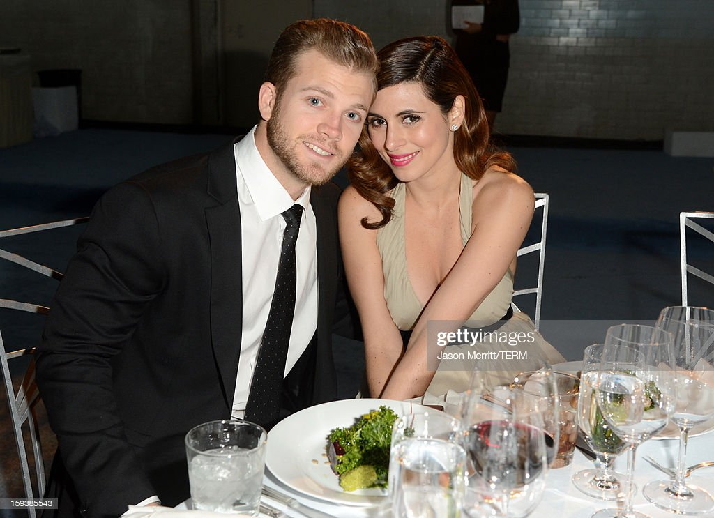 Cutter Dykstra (L) and actress Jamie-Lynn Sigler attend The Art of Elysium's 6th Annual HEAVEN Gala presented by Audi at 2nd Street Tunnel on January 12, 2013 in Los Angeles, California.