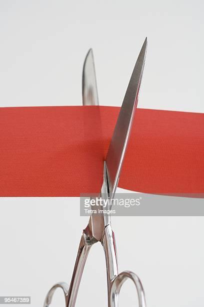 Cutting a ribbon