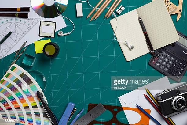 Planche de coupe d'un designer