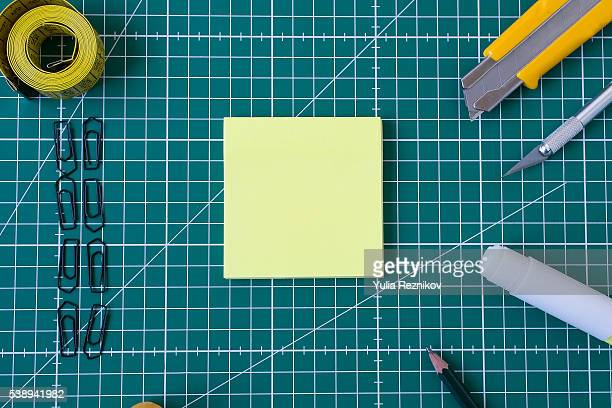 Cutting mat with work tools
