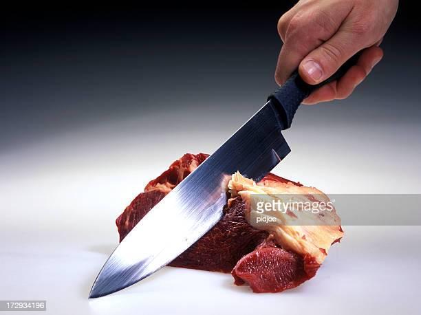 Schneiden Fleisch