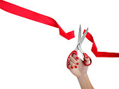 Cutting Red Ribbon Opening Ceremony