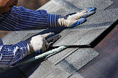 In order to fit properly shingles are cut.