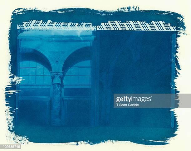 Cyanotype Diptych - Architetural Detail