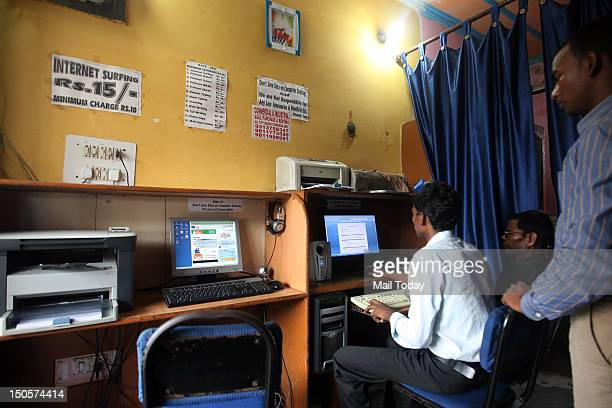 A cyber cafe in New Delhi The Delhi government has asked deputy commissioners to keep a watch on cyber cafes