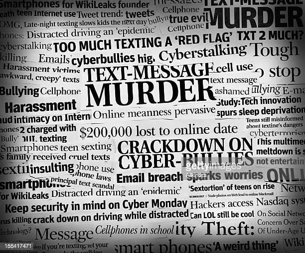 cyberbully headline collage