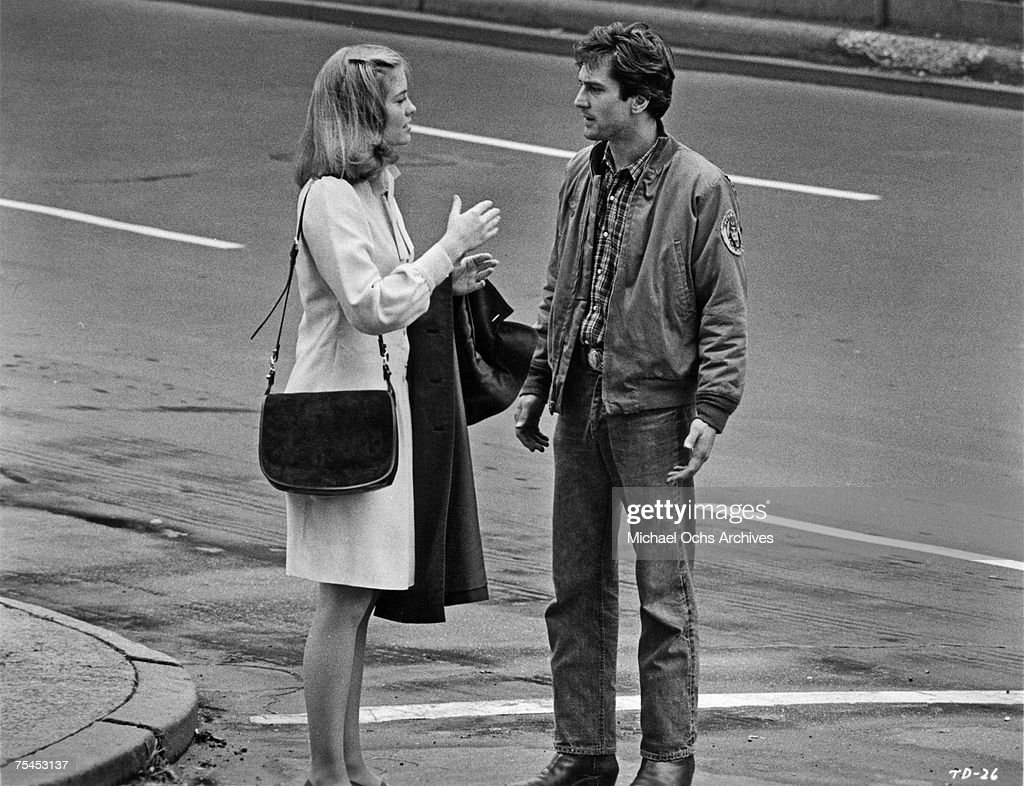 Cybill Shepherd and Robert De Niro perform a scene in Taxi Driver directed by Martin Scorsese in 1976 in New York New York