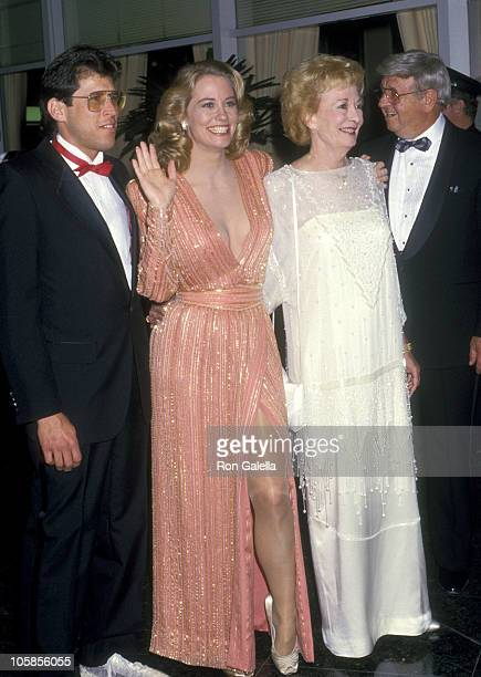 Cybill Shepherd Bruce Oppenheim and Patty Shobe during The 44th Annual Golden Globe Awards at Beverly Hilton Hotel in Beverly Hills California United...