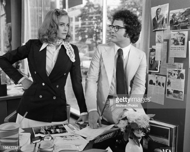 Cybill Shepherd in office with Albert Brooks in a scene from the film 'Taxi Driver' 1976