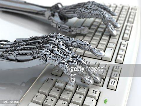 Cyborg's hands : Stock Photo