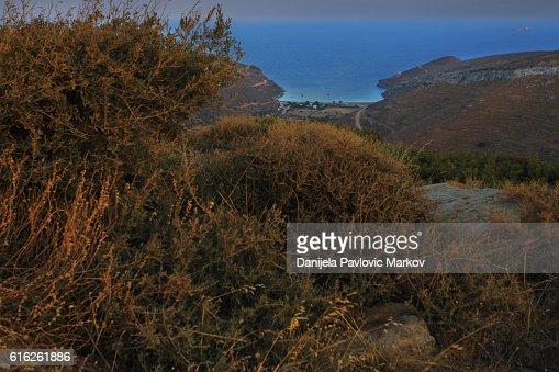 Cyclades dusk : Stock Photo