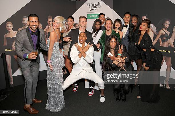 Cycle 22 cast attends the 'America's Next Top Model' Cycle 22 Premiere Party presented by OPPO and NYLON on July 28 2015 in West Hollywood California