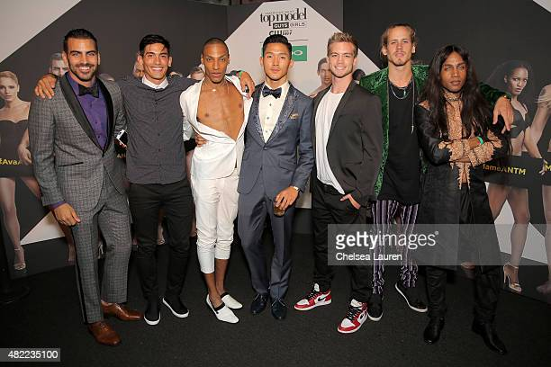 ANTM Cycle 22 models Nyle DiMarco Stefano Churchill Devin Clark Justin Kim Dustin McNeer Mikey Heverly and Bello Sanchez attend the 'America's Next...