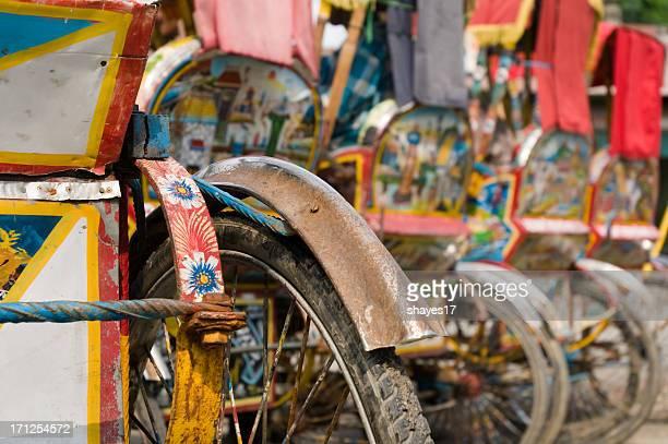 Cycle rickshaw closeup