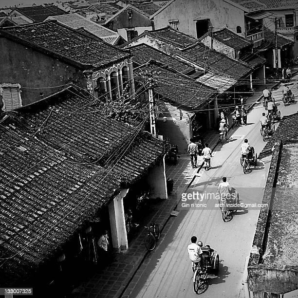 Cycle rickshaw on street, Hoi An