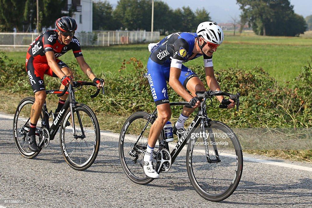 100th Giro del Piemonte 2016 Pieter SERRY (BEL)/ Damiano CARUSO (ITA)/ Diano d'Alba - Aglie (207Km)/ Tim De WaeleRS/Tim De Waele/Corbis via Getty Images)
