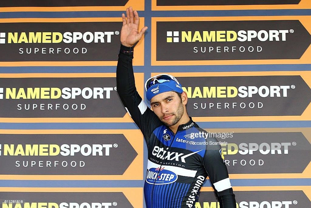 100th Giro del Piemonte 2016 Podium / Fernando GAVIRIA (COL) Celebration / Diano d'Alba - Aglie (207Km)/ Tim De WaeleRS/Tim De Waele/Corbis via Getty Images)