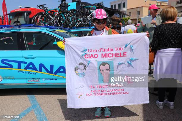 100th Tour of Italy 2017 / Stage 1 Fan / Michele SCARPONI / Alghero Olbia / Giro /