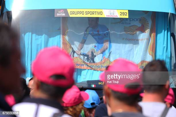100th Tour of Italy 2017 / Stage 1 Flag / Michele SCARPONI / Astana Pro Team / Bus / Alghero Olbia / Giro /