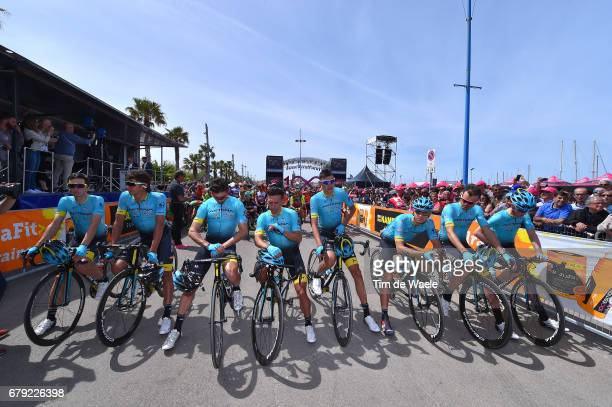 100th Tour of Italy 2017 / Stage 1 Start / Team ASTANA lines up at the start in memory of Michele SCARPONI / Dario CATALDO / Pello BILBAO / Zhandos...