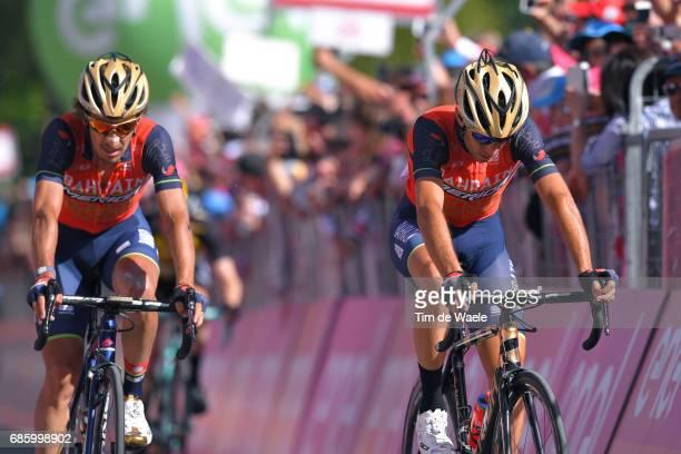 100th Tour of Italy 2017 / Stage 14 Arrival / Vincenzo NIBALI / Franco PELLIZOTTI / Disappointment / Castellania OropaBiella 1142m / Giro /