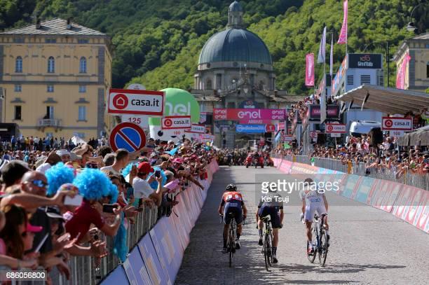 100th Tour of Italy 2017 / Stage 14 Arrival / Vincenzo NIBALI / Adam YATES / Thibaut PINOT / Landscape / Castellania OropaBiella 1142m / Giro /