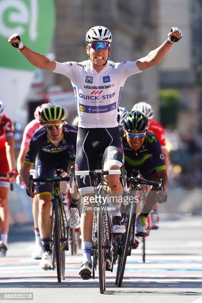 100th Tour of Italy 2017 / Stage 15 Arrival / Bob JUNGELS White Best Young Rider Jersey Celebration / Thibaut PINOT / Adam YATES / Nairo QUINTANA /...