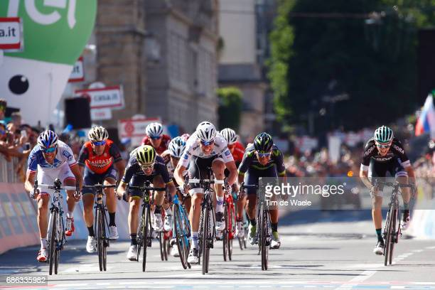 100th Tour of Italy 2017 / Stage 15 Arrival / Bob JUNGELS White Best Young Rider Jersey / Thibaut PINOT / Adam YATES / Nairo QUINTANA / Patrick...