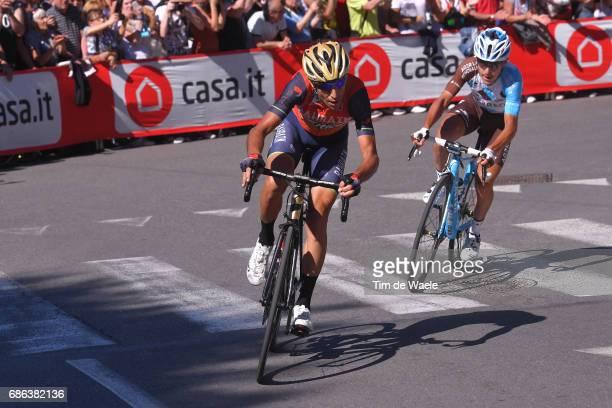 100th Tour of Italy 2017 / Stage 15 Bob JUNGELS White Best Young Rider Jersey / Vincenzo NIBALI / Domenico POZZOVIVO / Valdengo Bergamo / Giro /