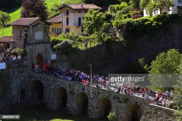 100th Tour of Italy 2017 / Stage 15 Peloton / Bergamo Alta 371m / Public / Fans / Landscape / Valdengo Bergamo / Giro /
