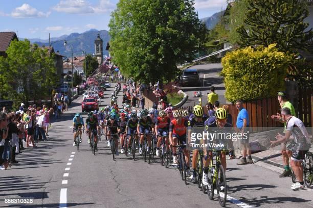 100th Tour of Italy 2017 / Stage 15 Ruben PLAZA / Carlos VERONA / Vincenzo NIBALI / Nairo QUINTANA / Peloton / Valdengo Bergamo / Giro /