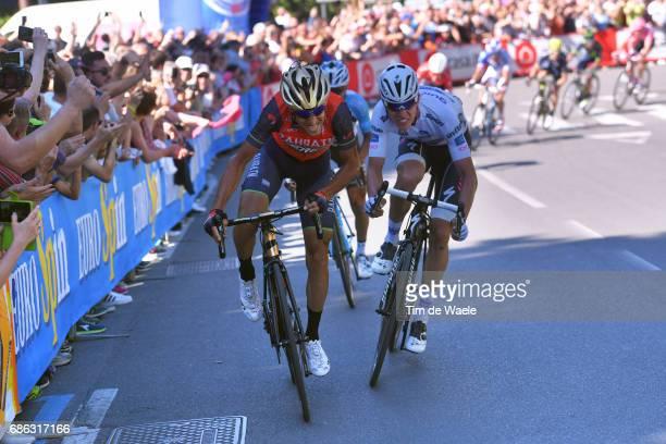 100th Tour of Italy 2017 / Stage 15 Vincenzo NIBALI / Bob JUNGELS White Young Jersey/ Valdengo Bergamo / Giro /