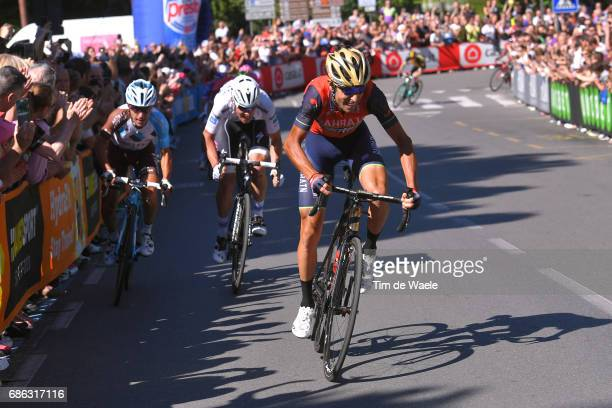 100th Tour of Italy 2017 / Stage 15 Vincenzo NIBALI / Domenico POZZOVIVO / Bob JUNGELS White Young Jersey/ Valdengo Bergamo / Giro /
