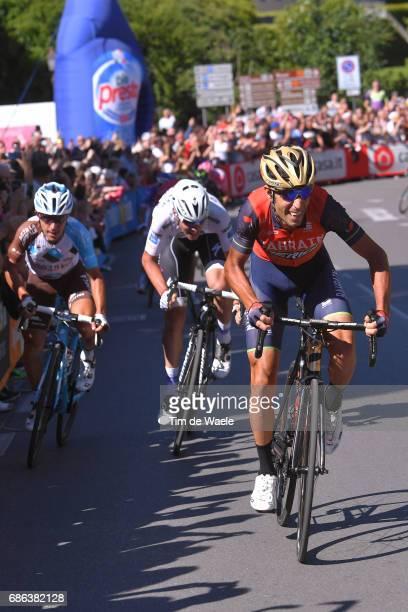 100th Tour of Italy 2017 / Stage 15 Vincenzo NIBALI / Domenico POZZOVIVO / Bob JUNGELS White Best Young Rider Jersey / Valdengo Bergamo / Giro /